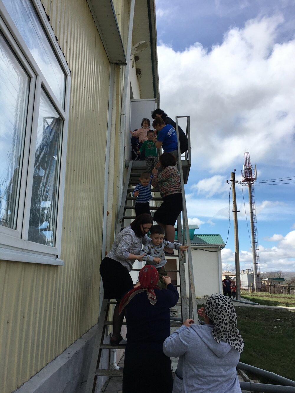 Плановая эвакуация воспитанников и работников ДОУ